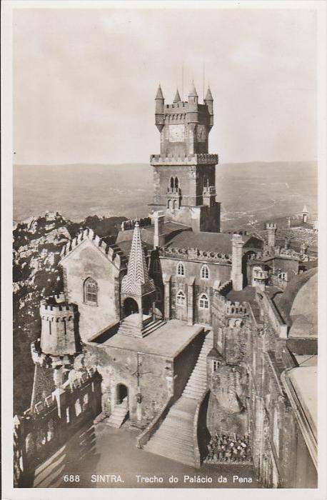 2996. 1930er Jahre. Ungelaufene Photoansichtskarte vom Pena Palast im Cintra. Q1!