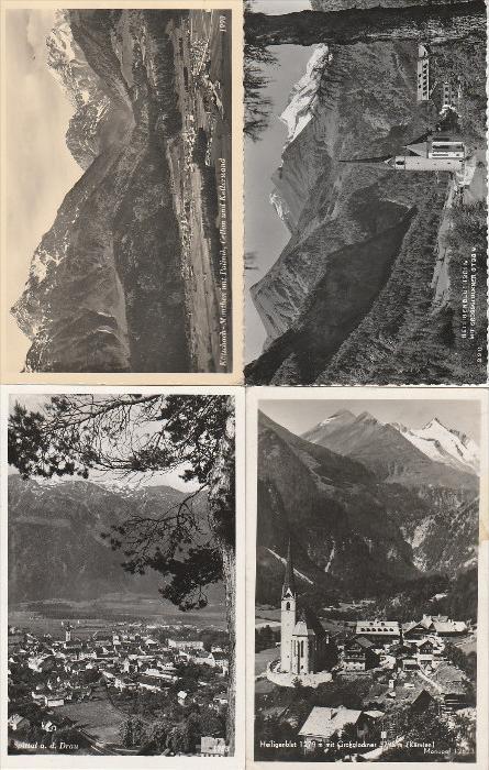 0625. 81 Stück Photoansichtskarte aus 1950-60er Jahren vom Kärnten, im gute Erhaltung!