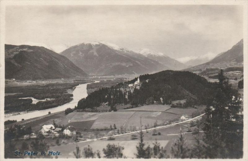 4207. Im 1924 gelaufene Photoansichtskarte vom St. Peter im Holz-Teurnia. Q1!