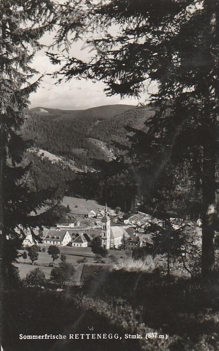 7490. Im 1951 gelauft Photoansichtskarte vom Rettenegg. Q1!