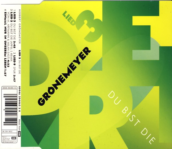 Grönemeyer, Herbert - Du Bist Die [CD-Single]