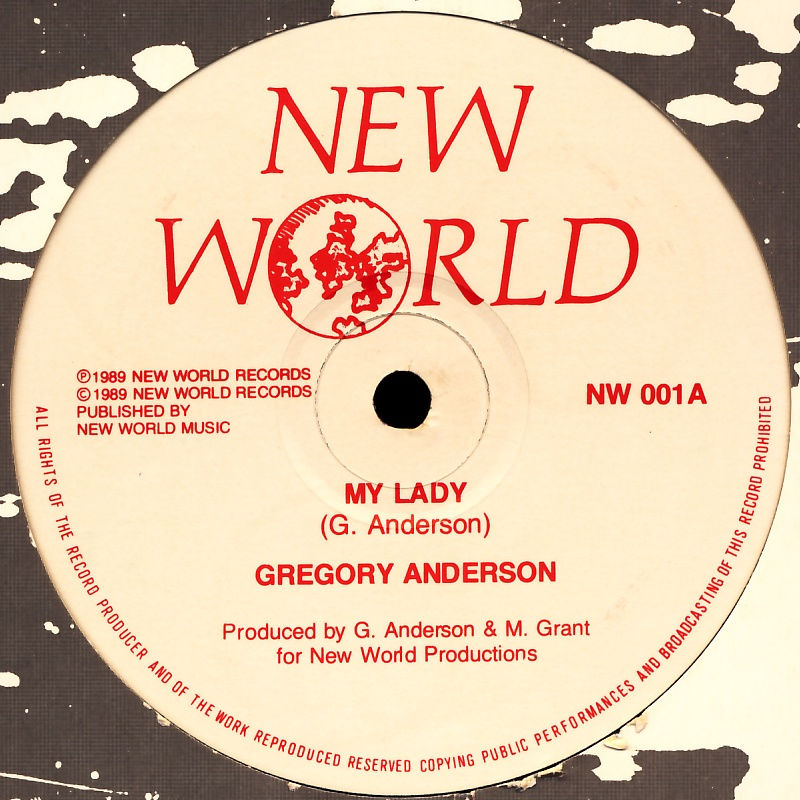 "Anderson, Gregory - My Lady / Red Alert [12"" Maxi]"