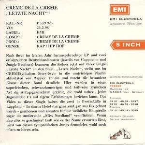 Creme De La Creme - Letzte Nacht [CD-Single]
