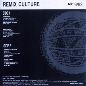 Various - DMC Remix Culture 6/92 [LP]