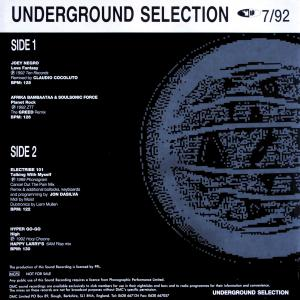Various - DMC Underground Selection 7/92 [LP]
