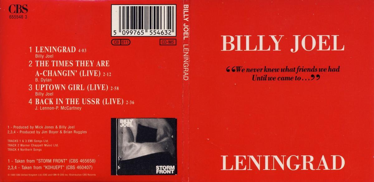 Joel, Billy - Leningrad [CD-Single]