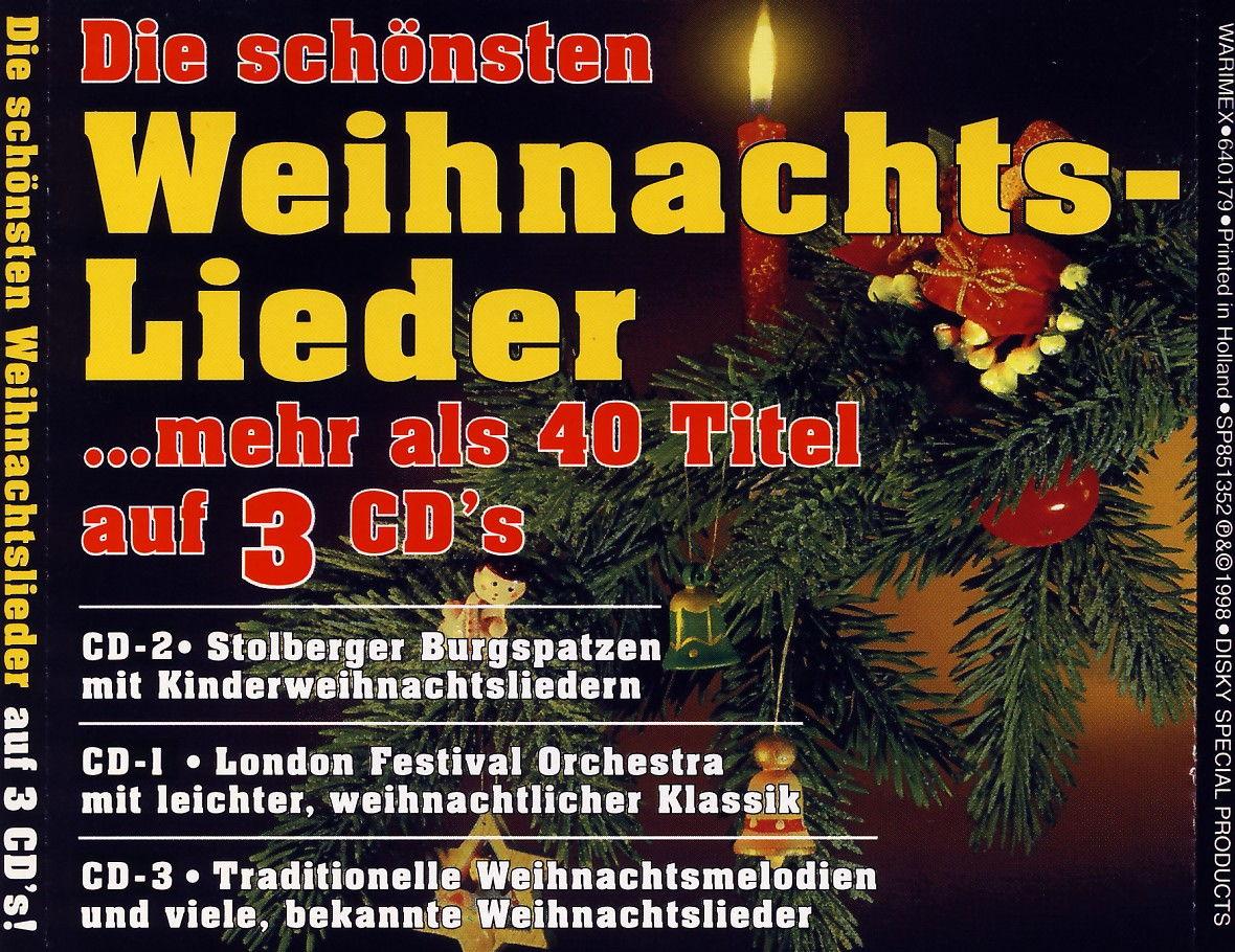 Various - Die Schönsten Weihnachtslieder Mehr Als 40 Titel Auf 3 CDs ...