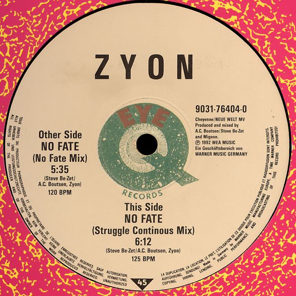 "Zyon - No Fate [12"" Maxi]"