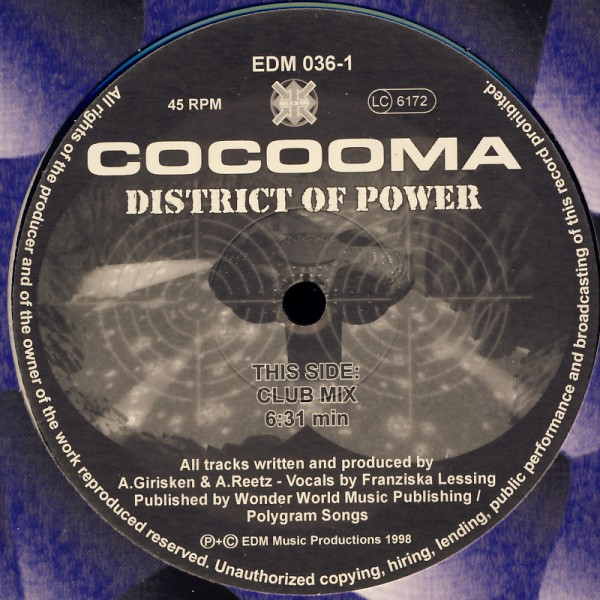 """Cocooma - District Of Power [12"""" Maxi]"""