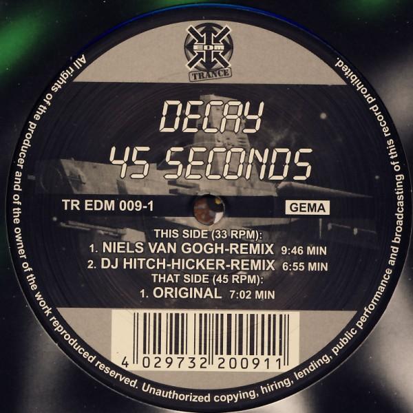 """Decay - 45 Seconds [12"""" Maxi]"""
