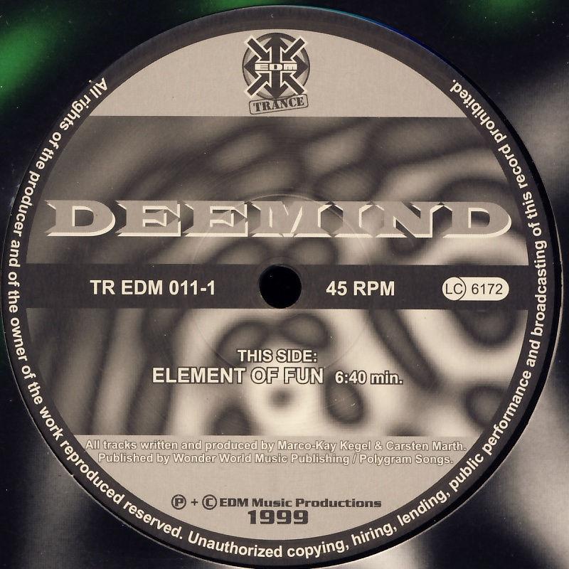 "Deemind - Element Of Fun / Witness [12"" Maxi]"