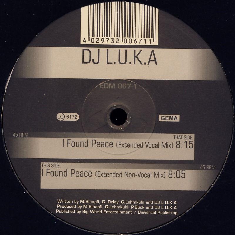 """DJ LUKA - I Found Peace [12"""" Maxi]"""