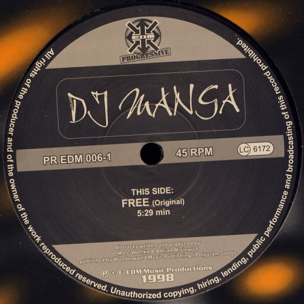 "DJ Manga - Free [12"" Maxi]"