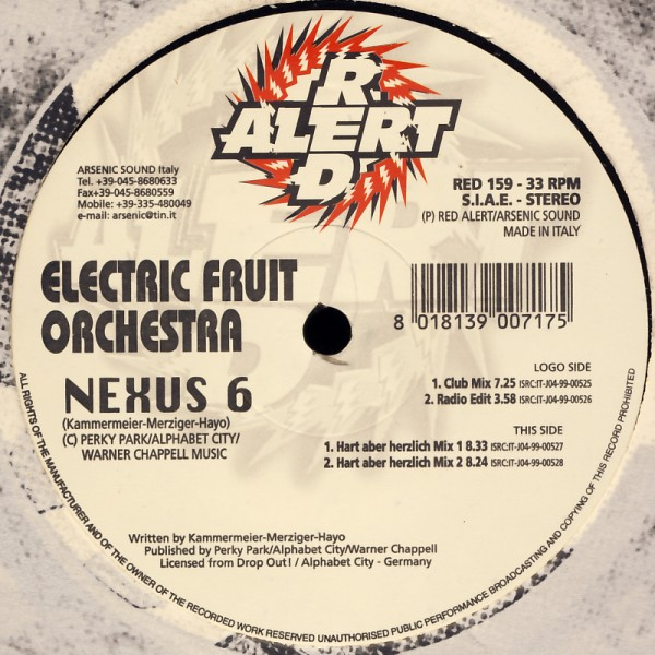 "Electric Fruit Orchestra - Nexus 6 [12"" Maxi]"