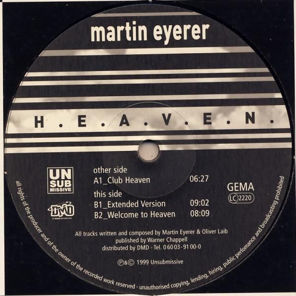 """Eyerer, Martin - H.E.A.V.E.N. [12"""" Maxi]"""