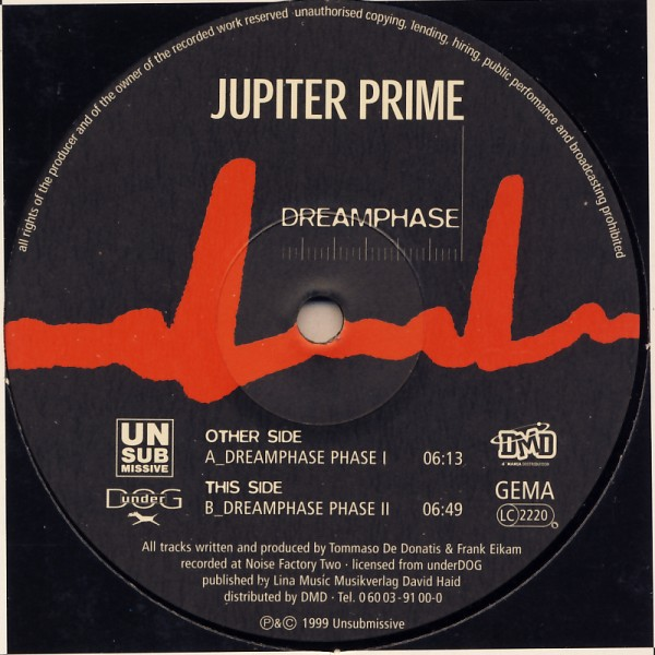 "Jupiter Prime - Dreamphase [12"" Maxi]"