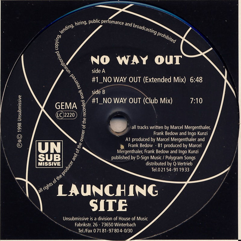 "Launching Site - No Way Out [12"" Maxi]"