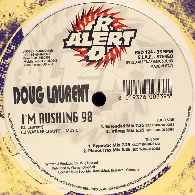 "Laurent, Doug - I'm Rushing 98 [12"" Maxi]"