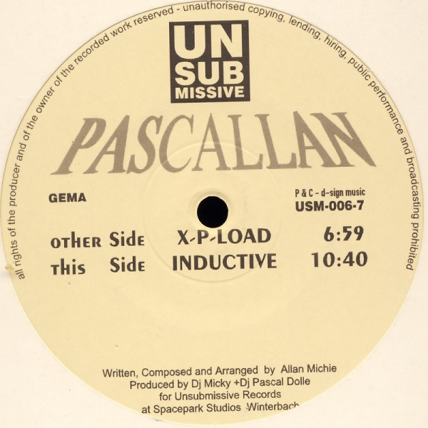 "Pascallan - X-P-Load / Inductive [12"" Maxi]"
