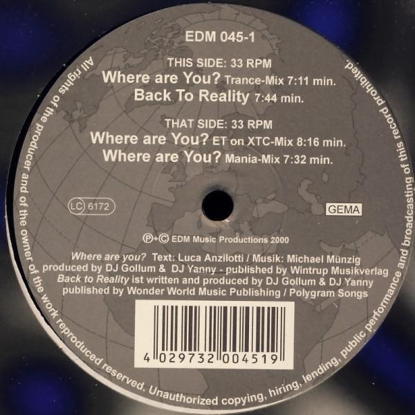 """Phantom Sheriffs - Where Are You [12"""" Maxi]"""