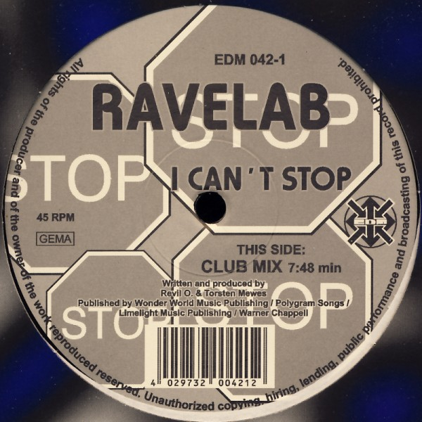 """Ravelab - Send Me An Angel / I Can't Stop [12"""" Maxi]"""