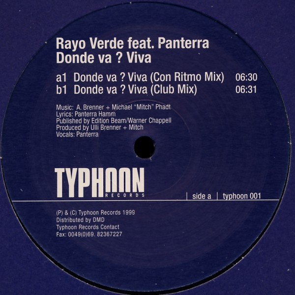 "Rayo Verde feat. Panterra - Donde Va ? Viva [12"" Maxi]"