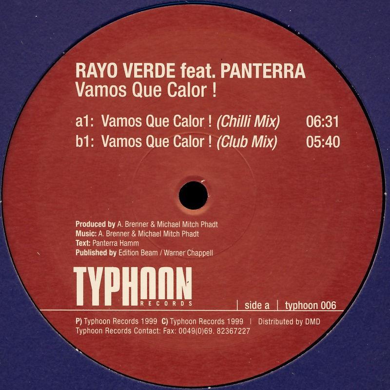"""Rayo Verde feat. Panterra - Vamos Que Calor [12"""" Maxi]"""