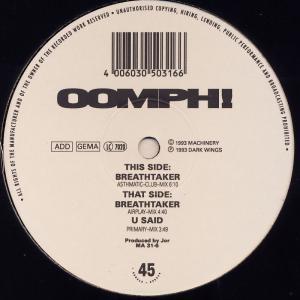 "Oomph - Breathtaker [12"" Maxi]"