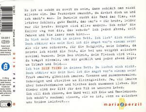 Maria Perzil - Dein Feind [CD-Single]