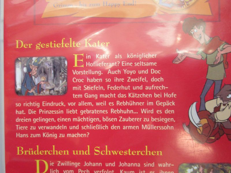 Simsala Grimm: Die Märchen der Brüder Grimm - zwei Märchen (1.) Der gestiefelte Kater + 2.) Brüderchen und Schwesterchen) 3