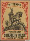 Etikett für Streichhölzer - Wittekind - Matchbox label  boîte d'allumettes #746