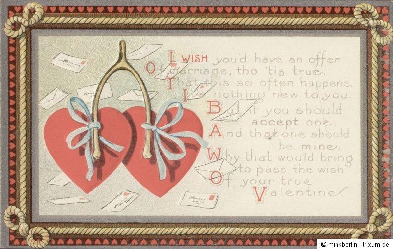 valentinstag karte original von 1910 valentins day postcard 1268 nr 1268 oldthing. Black Bedroom Furniture Sets. Home Design Ideas