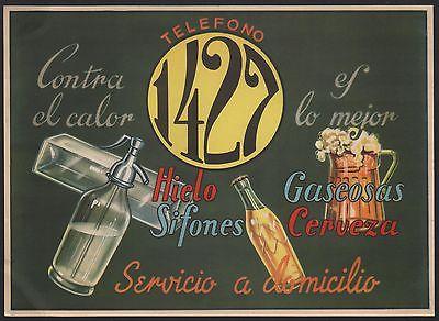 flyer von ca. 1930-50 / servicio a domicilio - home service - Zustelldienst