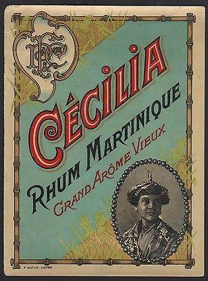 Etikett für Rum - Rhum Martinique Cecilia - liquer label - étiquette #2299