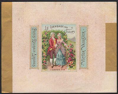 Etikett für Seife - Savon Le Langage des Fleurs - soap label - étiquette #2385