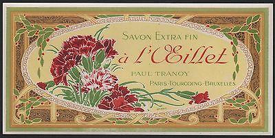 Etikett für Seife - Savon à l'œillet - soap label - étiquette #2376