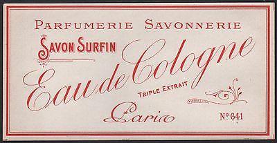 Etikett für Seife - Savon Eau de Cologne - soap label - étiquette de Savon #2323