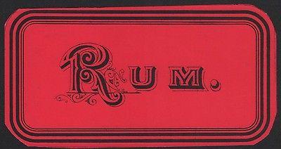 Etikett für RUM - rhum label - Étiquette de rhum - ca. 1900 #2506