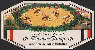 Etikett für Bienen-Honig- honey label - Étiquette de miel - ca. 1900 #2500