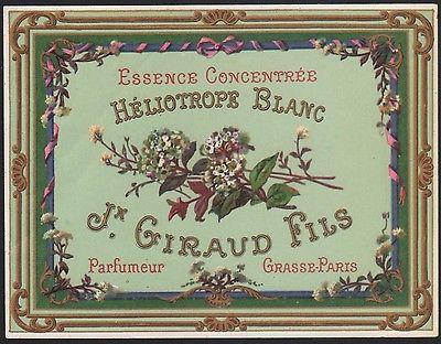 Vanilleblumeessenz Etikett - Perfume label / etiquette HÉLIOTROPE BLANC #2357
