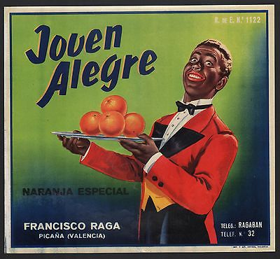 Etikett für spanische Orangen / Orangenkiste von ca. 1950 / orange crate label