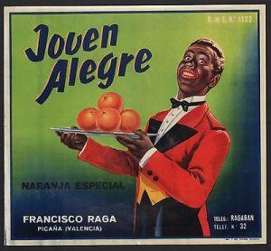 Orangenkiste von ca 1950 El-West Delite Brand  # 507 Etikett für Orangen
