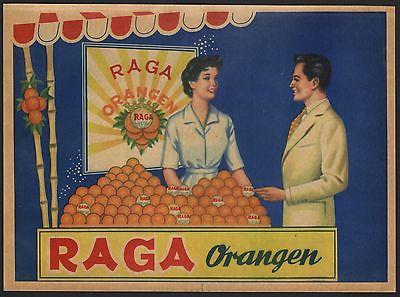 Etikett für spanische Orangen / Orangenkiste von ca. 1960 / orange crate label