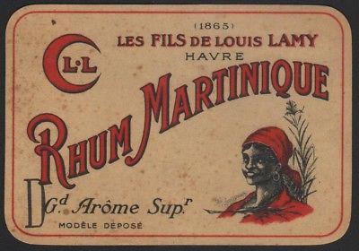 RHUM MARTINIQUE - Etikett für Rum / rum label / etiquette de rhum #2562