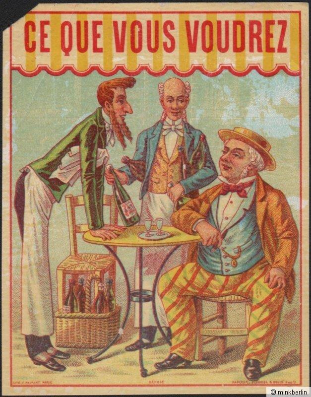 Likör Etikett - étiquette ce que vous voudrez / liqueur label ~1900 # 1206