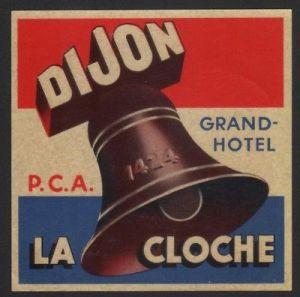 Hotel Kofferetikett / luggage label - Grand-Hotel La Cloche, Dijon