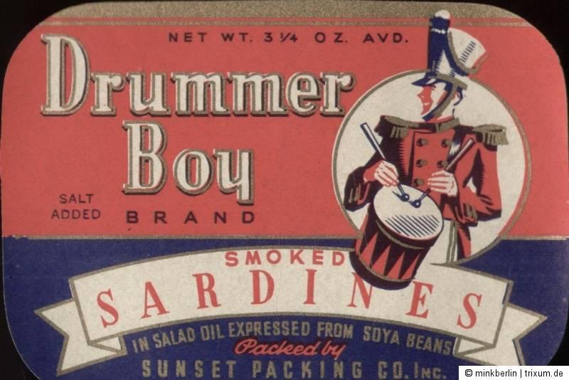 Etikett / Etiquette / label - Sardinendose - Sardinen / sardine  # 335