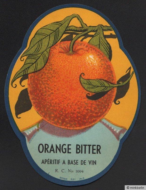 Etikett für Orangen Bitter / Orange Bitter - Belgien - ca.1930 # 1083
