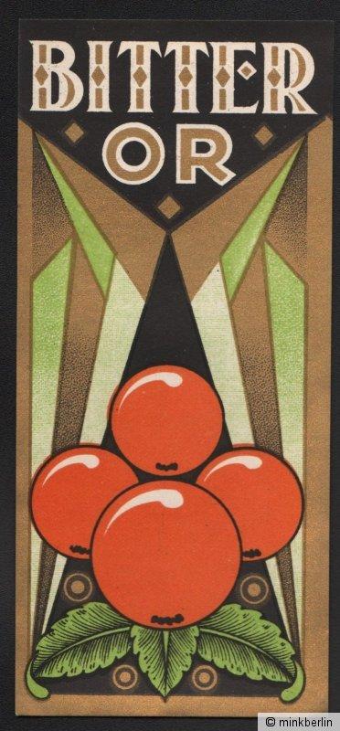Etikett für Orangen Bitter / Bitter Or - Belgien- ca.1920 # 1082