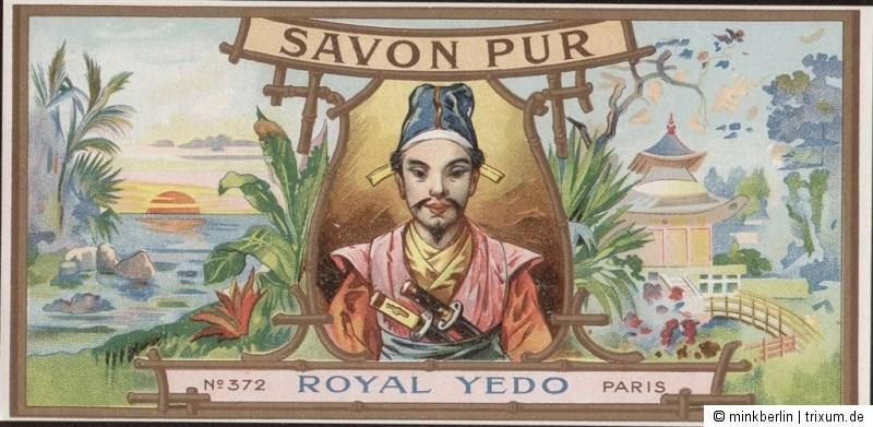 Etikett für Seife - étiquette de Savon Royal Yedo - soap label - ca. 1900 - # 74